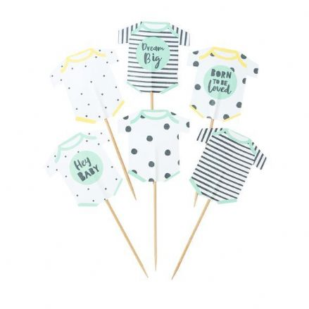 Born To Be Loved, Baby Shower Cupcake Toppers